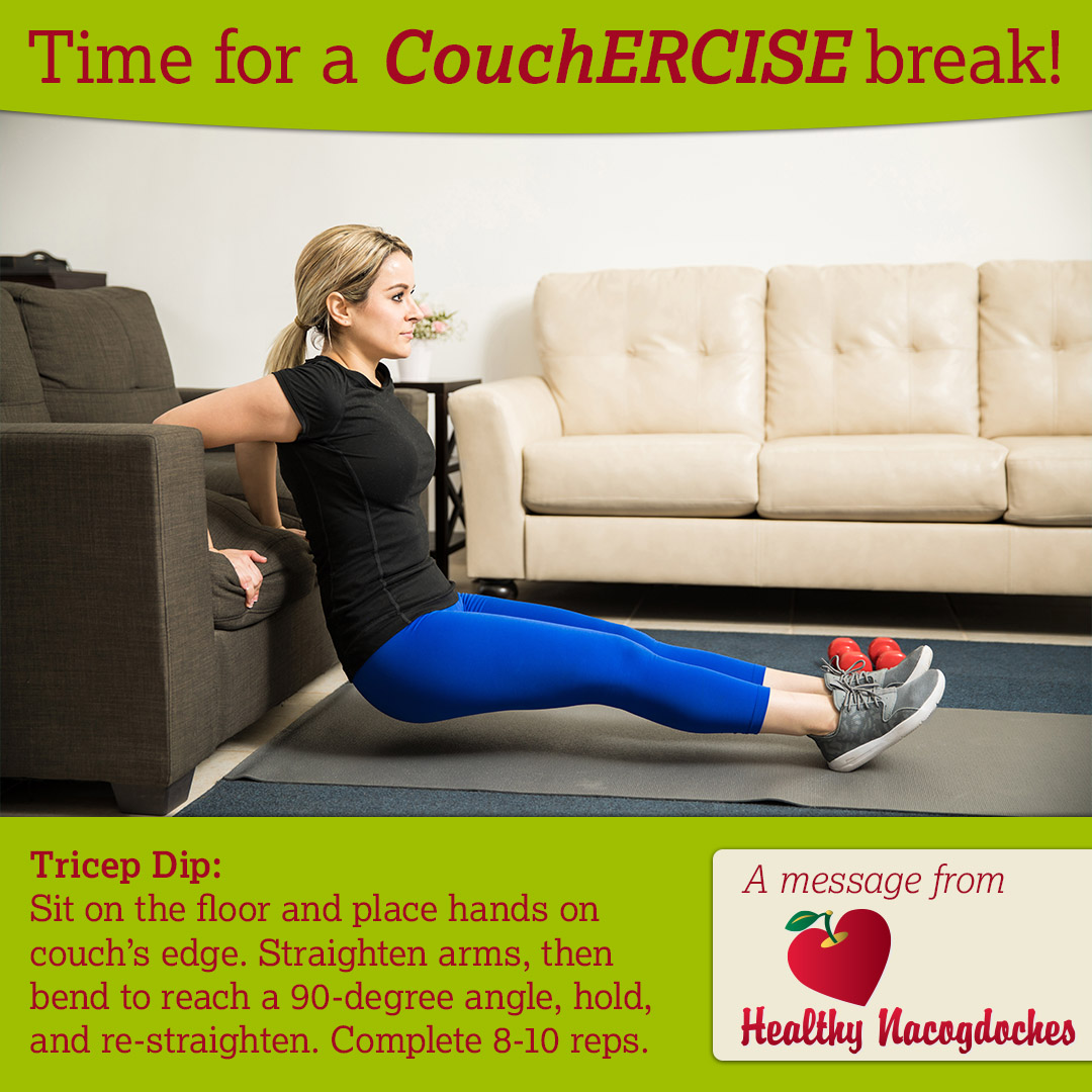 Couchercise Tricep Dip